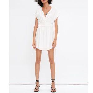 EUC Zara V-neck Mini Dress with Side Bows Sz XS